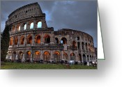 Ancient Rome Greeting Cards - Rome colosseum Greeting Card by Joana Kruse