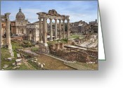 Saturn Greeting Cards - Rome Forum Romanum Greeting Card by Joana Kruse