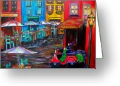 Umbrellas Greeting Cards - Rome in Twilight Greeting Card by Patti Schermerhorn