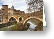 Hospital Greeting Cards - Rome Isola Tiberina Greeting Card by Joana Kruse