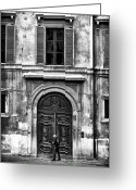 Unique Door Greeting Cards - Rome Greeting Card by John Rizzuto