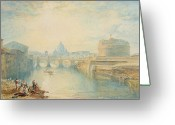 Castle Painting Greeting Cards - Rome Greeting Card by Joseph Mallord William Turner
