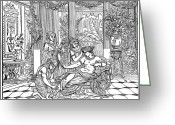 Patrician Greeting Cards - Rome: Ladys Toilet Greeting Card by Granger
