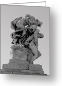 Soldier  Pictures Greeting Cards - Rome Monument Greeting Card by R L Nielsen