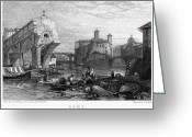 1833 Greeting Cards - Rome: Ponte Rotto, 1833 Greeting Card by Granger