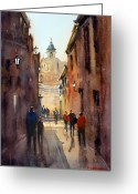 Buildings Painting Greeting Cards - Rome Greeting Card by Ryan Radke
