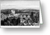 1833 Greeting Cards - Rome: Scenic View, 1833 Greeting Card by Granger