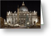 Vatican City Greeting Cards - Rome Vatican Greeting Card by Joana Kruse