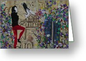Romeo And Juliet Greeting Cards - Romeo and Juliet. Greeting Card by Sima Amid Wewetzer