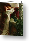 Lovers Embrace Greeting Cards - Romeo and Juliet Greeting Card by Sir Frank Dicksee