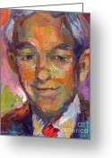 Poster From Greeting Cards - Ron Paul art impressionistic painting  Greeting Card by Svetlana Novikova