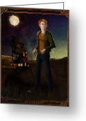 Brown Digital Art Greeting Cards - Ron Weasley 8x10 Print Greeting Card by Christopher Ables