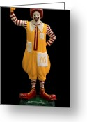 Ronald Greeting Cards - Ronald McDonald Greeting Card by Andrew Fare