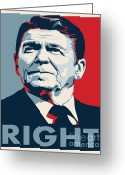 Conservative Greeting Cards - Ronald Reagan Greeting Card by John L