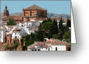 Jenny Rainbow Art Photography Greeting Cards - Ronda. Andalusia. Spain Greeting Card by Jenny Rainbow