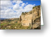Escarpment Greeting Cards - Ronda Cliffs in Andalusia Greeting Card by Artur Bogacki
