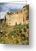 Escarpment Greeting Cards - Ronda Rock in Andalusia Greeting Card by Artur Bogacki