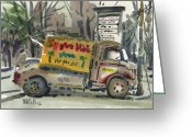 Business Painting Greeting Cards - Ronnie Johns Greeting Card by Donald Maier