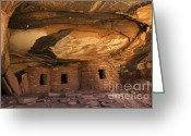 Ancestors Greeting Cards - Roof Falling In Ruin Greeting Card by Bob Christopher