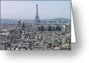 Ile De France Greeting Cards - Roofs Of Paris From The Notre Dame Greeting Card by Romeo Reidl