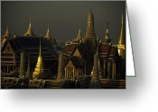 Asian Architecture And Art Greeting Cards - Roofs, Spires, And Steeples Greeting Card by Paul Chesley