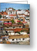 Rooftops Greeting Cards - Rooftops in Puerto Vallarta Mexico Greeting Card by Elena Elisseeva