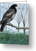 The Nest Painting Greeting Cards - Rook Greeting Card by English School