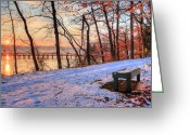 Virginia Winter Greeting Cards - Room for Two Greeting Card by JC Findley