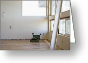 Wood Floors Greeting Cards - Room Remodeling Greeting Card by Andersen Ross