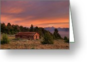 The West Greeting Cards - Room With a View Greeting Card by Leland Howard