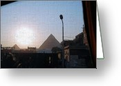 Social Comment Greeting Cards - Room with a View Greeting Card by Robert Boyette