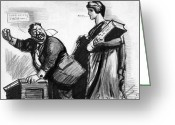 Shout Greeting Cards - ROOSEVELT CARTOON, c1916 Greeting Card by Granger
