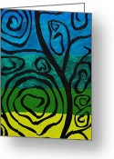 Chromatic Painting Greeting Cards - Roots of Love Greeting Card by Sean Ward