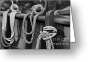 Black Tie Greeting Cards - Rope Tie Greeting Card by Sean Cupp
