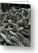 Ropes Greeting Cards - Ropes and Lines Greeting Card by Timothy Johnson