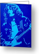 The King Greeting Cards - Rory Gallagher Greeting Card by John  Nolan