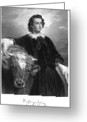 Autograph Greeting Cards - Rosa Bonheur (1822-1899) Greeting Card by Granger