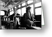 Civil Rights Greeting Cards - Rosa Parks (1913-2005) Greeting Card by Granger