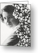 Personality Greeting Cards - Rosalind Franklin, English X-ray Greeting Card by Photo Researchers
