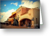 Landscape Greeting Cards - Rosas Cantina in Old Tuscon AZ Greeting Card by Susanne Van Hulst
