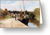 Rosbras Greeting Cards - Rosbras in Brittany Greeting Card by Berthe Morisot