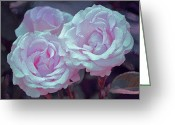 Floral Greeting Cards - Rose 118 Greeting Card by Pamela Cooper
