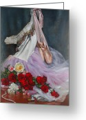 Autograph Greeting Cards - Rose Adagio Greeting Card by Lyndall Bass