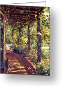 Featured Greeting Cards - Rose Arbor Toluca Lake Greeting Card by David Lloyd Glover