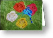 Beautiful Flowers Pastels Greeting Cards - Rose Boquet Greeting Card by Melissa Nowacki