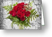 Cracks Greeting Cards - Rose bouquet Greeting Card by Elena Elisseeva