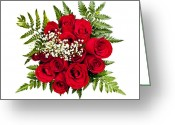 Flowers Photo Greeting Cards - Rose bouquet from above Greeting Card by Elena Elisseeva
