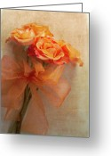 Bouquet Greeting Cards - Rose Bouquet Greeting Card by Rebecca Cozart