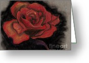 Beautiful Flowers Pastels Greeting Cards - Rose Greeting Card by Britt Myrli