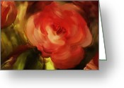 Graden Digital Art Greeting Cards - Rose Greeting Card by Elisabete Pontes de Oliveira